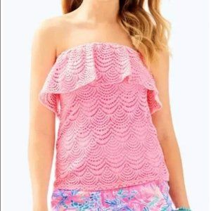 NWT! Lilly Pulitzer Wiley Tube Top Scalloped lace